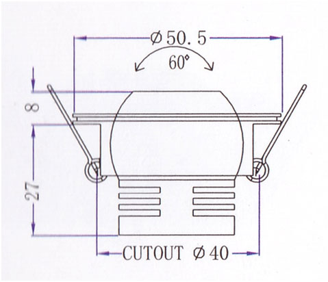 Mini Downlight QS-101C Diagram
