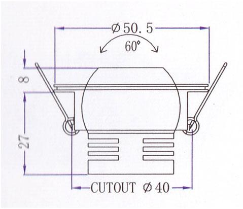 Mini Downlight QS-101C Diagram