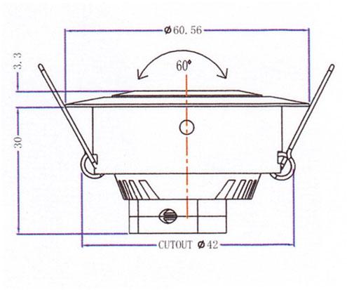 Mini Downlight QS-105A Diagram