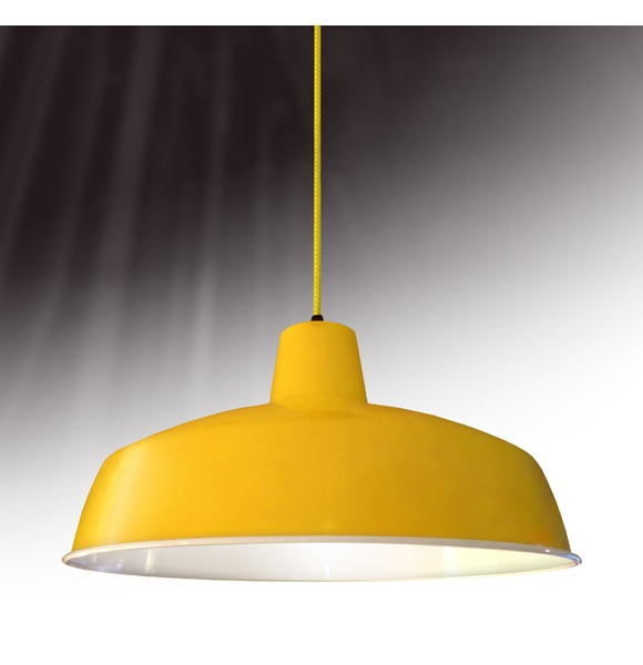 Yellow Industrial Pendant Light: Industrial Pendant Light